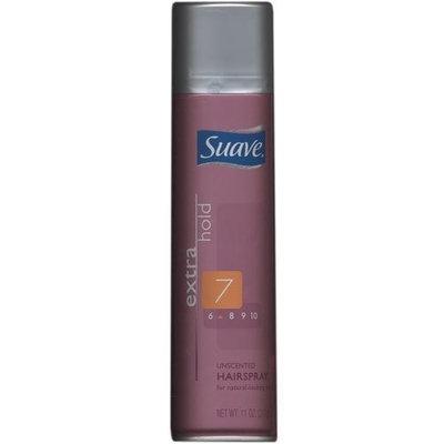 Suave Extra Hold Aerosol Hairspray, Unscented, 11 oz