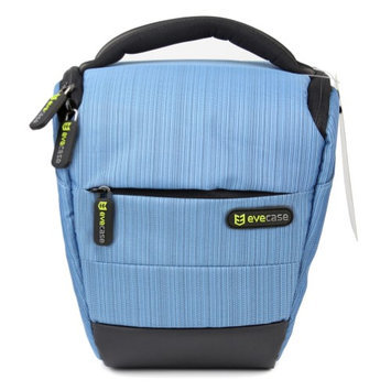 Evecase Compact DSLR Camera Case/Bag with Strap - Blue for Olympus SP-820UZ, SP-610UZ, SP-815UZ, SP-810UZ, SP-800UZ, SP-600 UZ, E-M1, E-M5, E-PM2, E-PL5, E-PL2