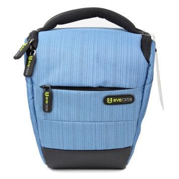 Evecase Compact DSLR Camera Case/Bag with Strap - Blue for Olympus SP-820UZ, SP-610UZ, SP-815UZ, SP-810UZ, SP-800UZ, SP-600 UZ, E-M1, E-M5, E-PM2, E-PL5, E-PL2