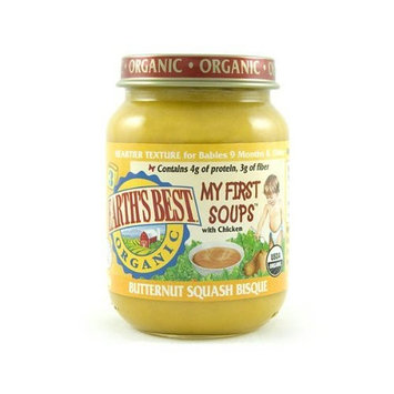 Earth's Best Junior Baby Food Organic My First Soup, Butternut Squash Bisque, 6 Ounce Jars (Pack of 12)