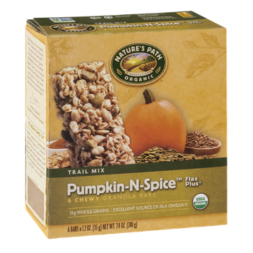 Nature's Path Organic Trail Mix Pumpkin-N-Spice Flax Plus Chewy Granola Bars - 6 CT