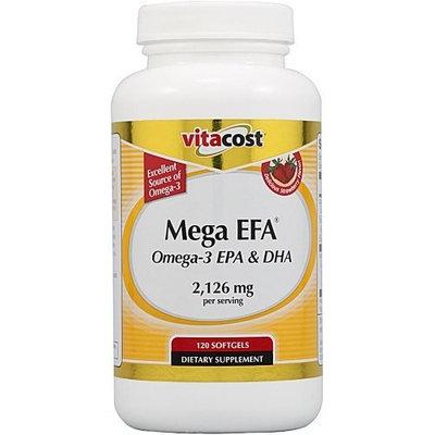 Vitacost Brand Vitacost Mega EFA Omega-3 EPA & DHA Fish Oil -- 2126 mg per serving - 120 Softgels