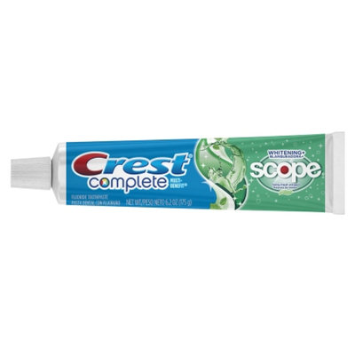 Crest Complete Complete Multi-Benefit Whitening + Scope Fluoride Toothpaste Minty Fresh Striped