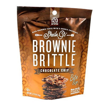 Sheila G's BROWNIE BRITTLE CHOCOLATE CHIP BROWNIE WITH COOKIE CRUNCH 2.75 OZ / 8 ct
