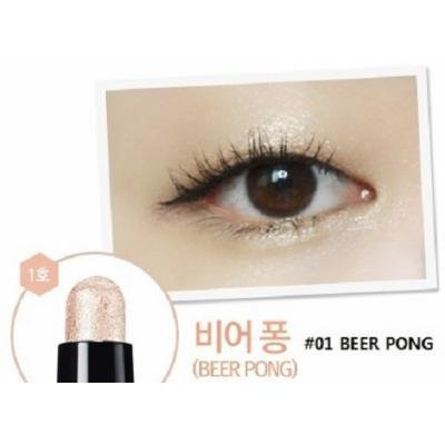 CLIO Gelpresso Waterproof Shadow - Eye Shadow Pencil, Stick Eye Shadow, Eye Make-up, Full Size, Longlasting & No Smudge (#01 Beer Pong)