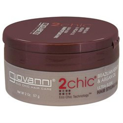 Giovanni 2chic Ultra-Sleek Hair Styling Wax Brazilian Keratin & Argan Oil