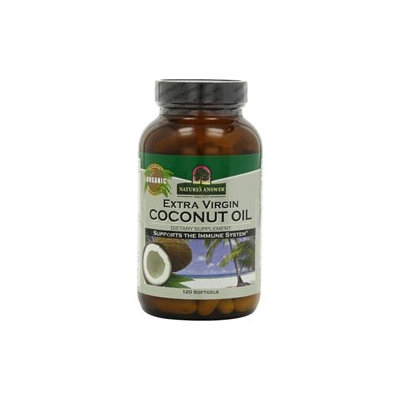tures Answer Nature's Answer Extra Virgin Coconut Oil - 120 Softgels