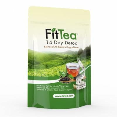 Fit Tea 14 Day Detox Herbal Weight Loss Tea - Natural Weight Loss, Body Cleanse and Appetite Control. Proven Weight Loss Formula.