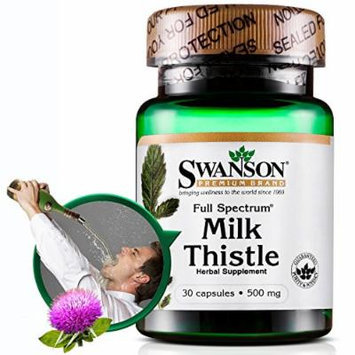 Swanson Full Spectrum Milk Thistle 500 mg 30 Caps