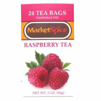 Marketspice Raspberry Tea 2 oz Box of 24 Teabags (Pack of 2)