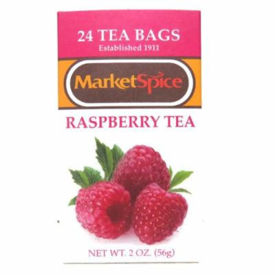 Marketspice Raspberry Tea 2 oz Box of 24 Teabags (Pack of 2)