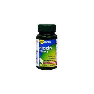 Sunmark Niacin Time Release Tablets, 250 mg 100 Tabs