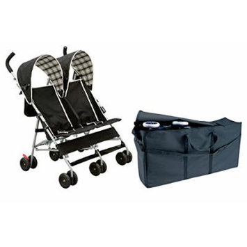 Delta Side by Side Stroller with Padded Travel Bag