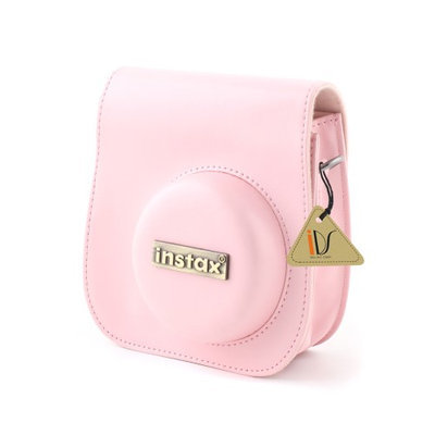 PU Leather Camera Shoulder Strap Bag Case Pouch For Fujifilm Instax Mini8 Pink