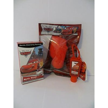 Disney Cars 3 Piece Bath Soap Sponge Hand Sanitizer Gift Set