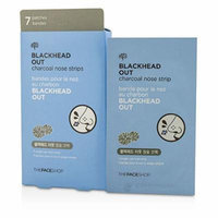 [The Face shop] Blackhead Out Charcoal Nose Strips 7ea