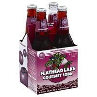 Flathead Lake Gourmet Sod Flathead Lake Huckleberry Soda, 12 oz, - Pack of 6