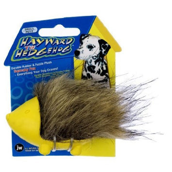 JW Pet Company Hayward the Hedgehog Dog Toy, Small (Colors Vary)