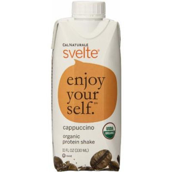 CalNaturale Svelte Organic Protein Shake, Cappuccino, 11 Ounce (Pack of 8)