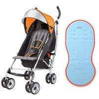 Summer Infant 3D Lite Convenience Stroller with Gel Pad Liner, Tangerine