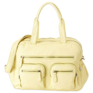 OiOi Faux Lizard Carry-All Diaper Bag in French Vanilla