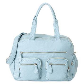 OiOi Faux Lizard Carry-All Diaper Bag in Powder Blue