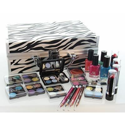 ETA Cosmetics Carry All Train Case Makeup Set and Reusable Case (White)