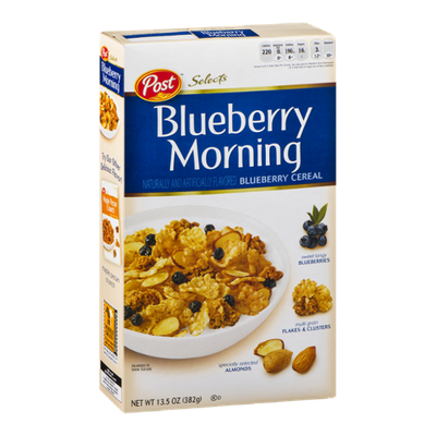 Post Selects Blueberry Morning Blueberry Cereal