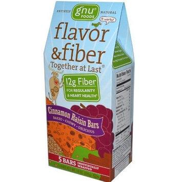 Gnu Foods Flavor and Fiber Bars Cinnamon Raisin -- 5 Bars