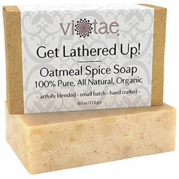 Organic OATMEAL Soap - by Vi-Tae® - 100% Pure, All Natural, Aromatherapy LUXURY Herbal Bar Soap - 4oz