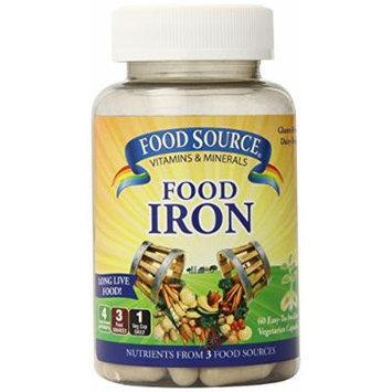 Solaray Food Source Food Iron Vegetarian Capsules, 60 Count