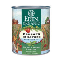 Eden Crushed Tomatoes with Basil, Organic, 28-Ounce (Pack of 6)