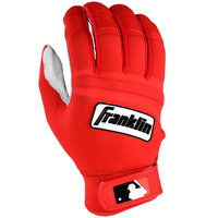 Franklin Sports MLB Adult Cold Weather Batting Glove Pearl/Red Small