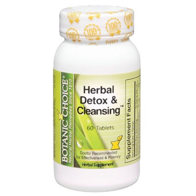 Botanic Choice Herbal Detox & Cleansing Herbal Supplement Tablets