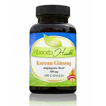 Panax Korean Ginseng , 500mg 100 Capsules , Powerful 10:1 Extract , Adoptogenic Herb and Sexual Health Supplement