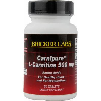 Bricker Labs Carnipure L-Carnitine -- 500 mg - 50 Tablets