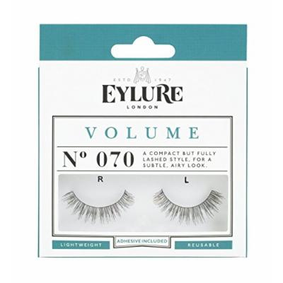 (Pack of 5 Pairs) Eylure Volume #070, Adhesive Included