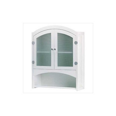 SWM 35013 Wood Bathroom Wall Cabinet - White