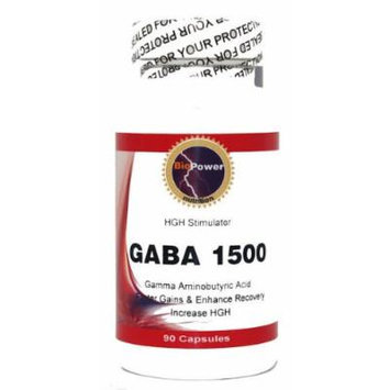 Gaba 1500 # 90 Capsules 1500mg Gaba # Gamma Aminobutyric Acid Amino Acid - Promote Relaxation and Lean Musce - BioPower Nutrition