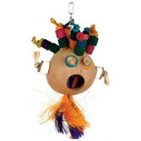 Planet Pleasures Screaming Coco Head Natural Bird Toy