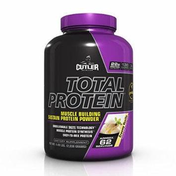 Cutler Nutrition Total Protein Muscle Building Sustain Protein Powder, Creamy Vanilla, 5.09-Pound