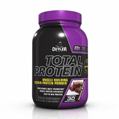 Cutler Nutrition Total Protein Muscle Building Sustain Protein Powder, Chocolate Brownie, 2.3-Pound