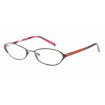 Jones New York J467 Red Designer Reading Glass Frame