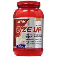 MET-Rx Size Up Gainer Diet Supplement, Vanilla, 3 Pound