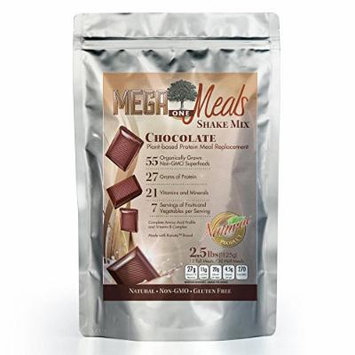 MegaOne Chocolate Meal Replacement Shake Powder - Non-GMO Diet & Weight Loss, Hunger Control, Energy - Plant Based High Protein Absorption - Natural Gluten-Free Superfoods
