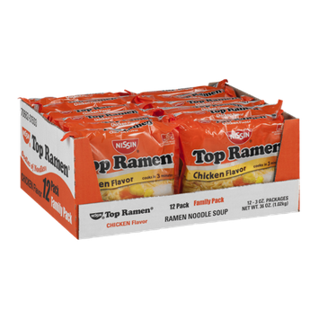 Nissin Top Ramen Chicken Flavor - 12 CT