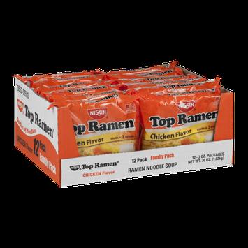 Nissin Top Ramen Chicken Flavor - 12 CT