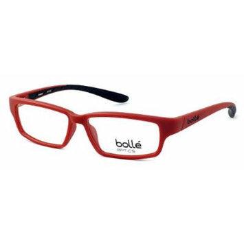 Bolle Optical Volnay Matte Red & Black Eyeglass Frame 70488 ; DEMO LENS