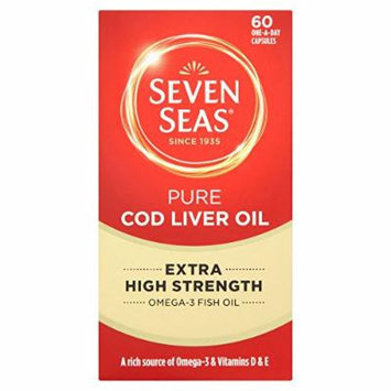 3 X Seven Seas Pure Cod Liver Oil Extra High Strength 60 One-a-day Capsules