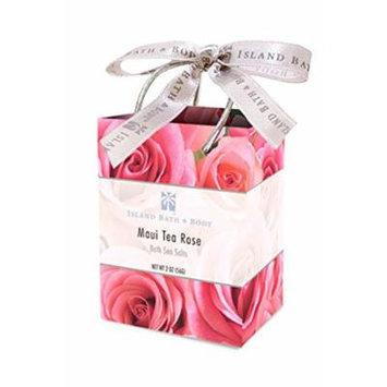 Value Pack 12 Bags Island Bath & Body Maui Tea Rose Bath Sea Salt 2.0oz. Each